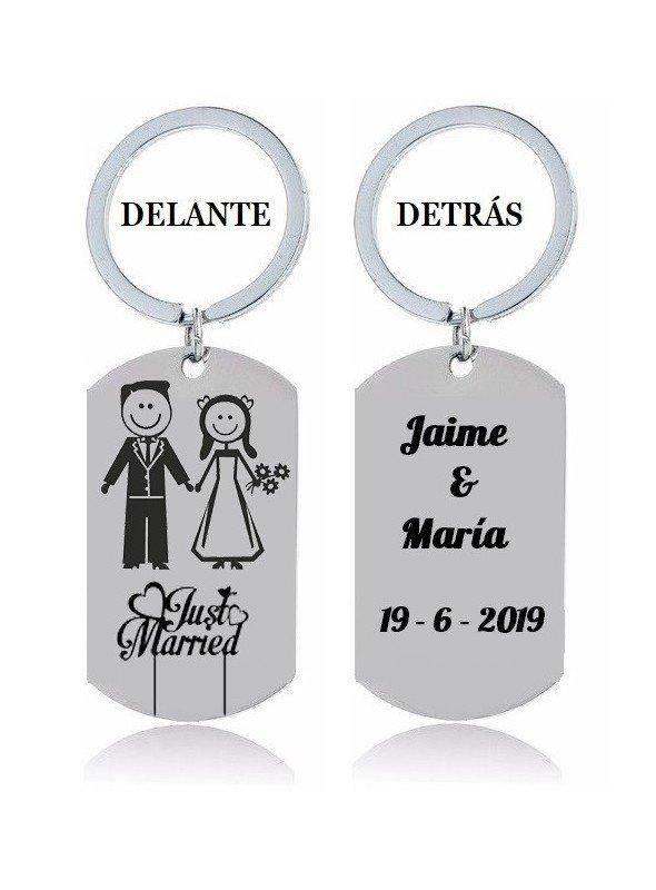 """LLAVERO """"RECIÉN CASADOS"""" (JUST MARRIED)"""