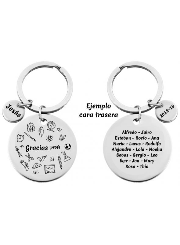 """LLAVERO """"GRACIAS PROFE"""" CON DIBUJOS"""