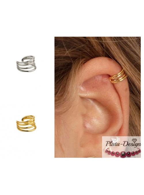 PENDIENTES EAR CUFF (1 UNIDAD) PLATA DE LEY