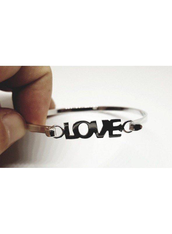 """PULSERA RÍGIDA """"LOVE"""" 100% PLATA DE 1ª LEY"""