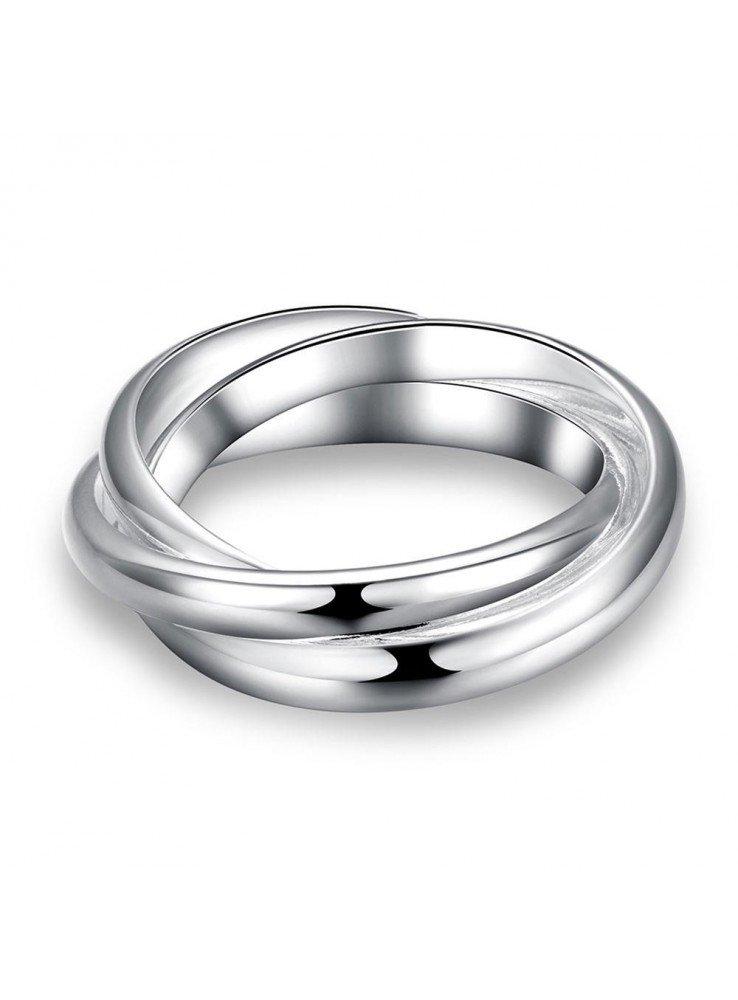f89e60865f43 3 Anillos entrelazados de plata Anillos Jewelry Jewelry rings y