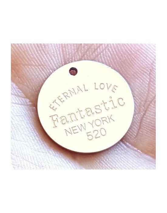 "CHAPA REDONDA ""ETERNAL LOVE"", PERSONALIZABLE"