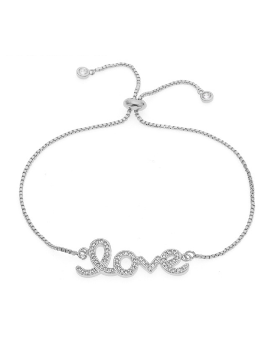 "PULSERA ""LOVE"" STRASS, EN TRES COLORES"
