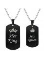 """PAREJA DE COLGANTES """"HER KING - HIS QUEEN"""""""