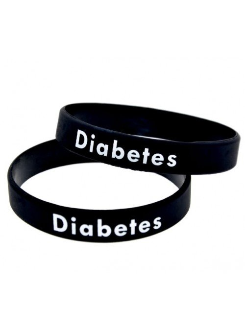 PULSERA DIABETES SILICONA (3 COLORES)